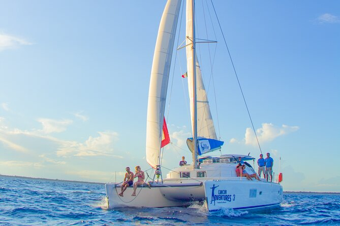 Luxury Sailing Experience to Isla Mujeres with Lunch & Open Bar