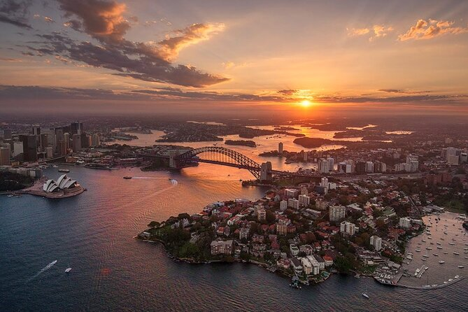 Private Sunset Helicopter Flight Over Sydney & Beaches for 2 or 3 - 30 Minutes