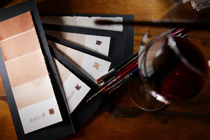 Painting with wine and Aperitivo