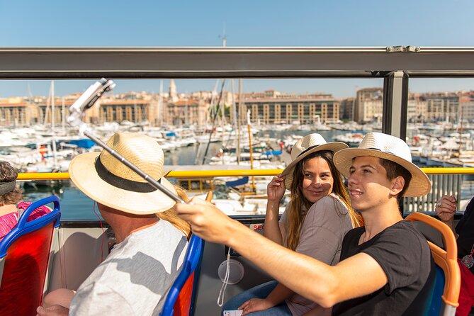 Marseille multi-stop double-decker bus tour