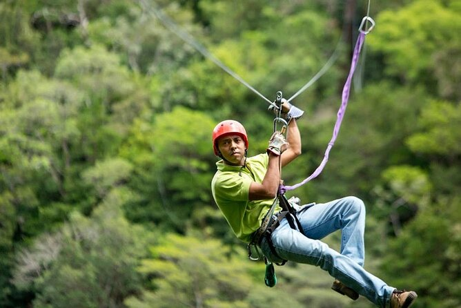 Mega Combo Zip Line Tour and Volcano Hot Spring