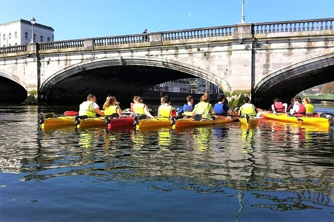 Kayaking under the bridges of Cork city. Guided. 2½ hours.