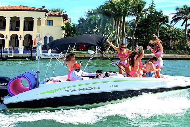 4-hour BYOB boat tour with Aquarius Boat Tours Miami | captain paid separately