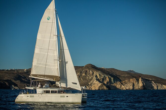 Santorini Caldera Gold Day Cruise with BBQ on board and Open Bar