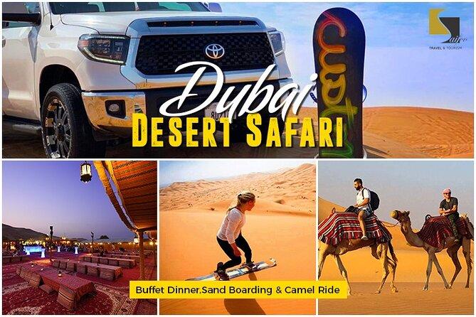 Beste Wüstensafari Dubai mit Abendbuffet, Sandboarding & Kamelritt