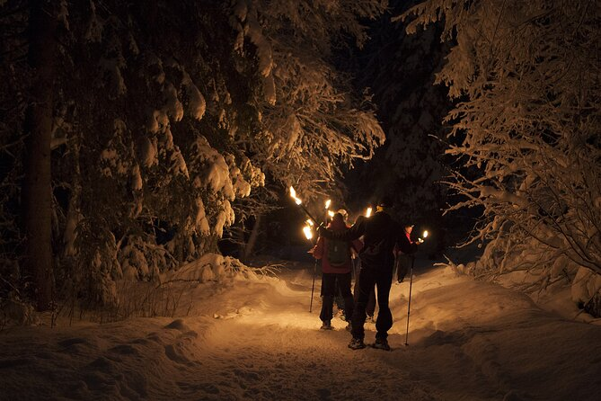 Dinner in a mountain refuge with Snowshoeing under the stars