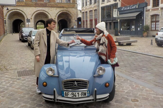 Private Lille Tour by Classic Convertible 2CV with Champagne