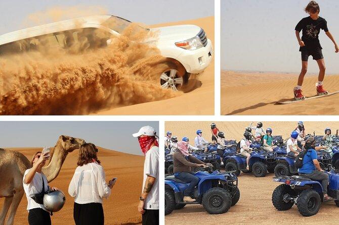 Combo 4in1 (4x4 Desert Safari, Quad Bike, Sand Boarding, Desert Camp Dinner)