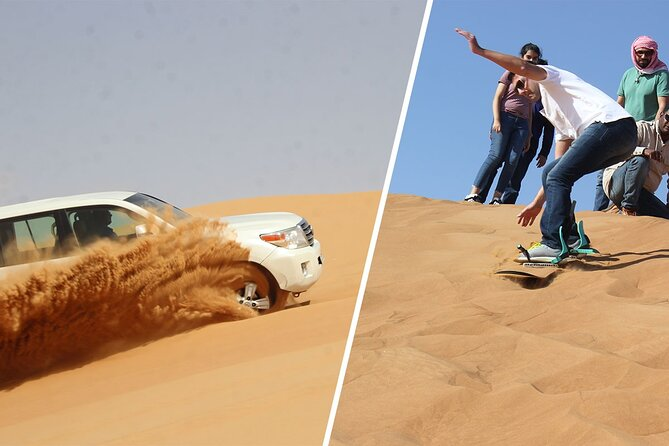 Dubai Morning Red Dune Extreme Desert Safari Adventure With Sand Boarding