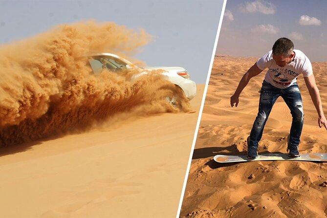 Aventure palpitante de safari dans le désert à Dubaï avec embarquement sur sable et dîner barbecue