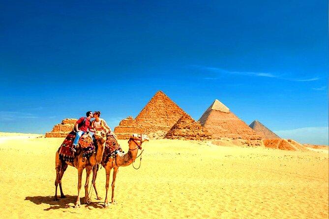 All inclusive trip Giza Pyramids,Egyptian Museum,Sphinx,Bazar,Camel Ride,Lunch