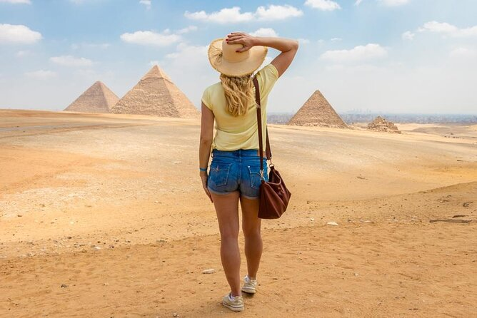 8Hour Private Tour:Giza Pyramids,Sphinx,Egyptian Museum With Lunch,Camel Ride
