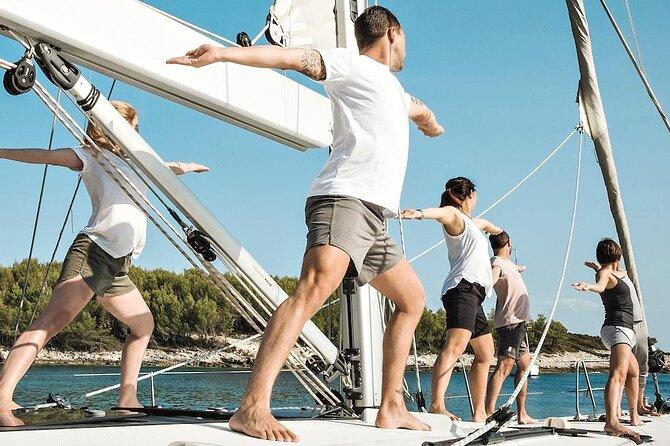 Private Full-Day Yoga Catamaran Cruise in Nikiti with Lunch