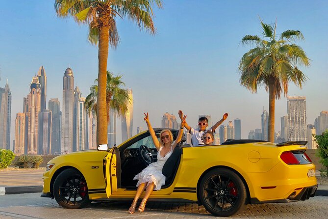 Dubai City Tour in a Convertible Ford Mustang