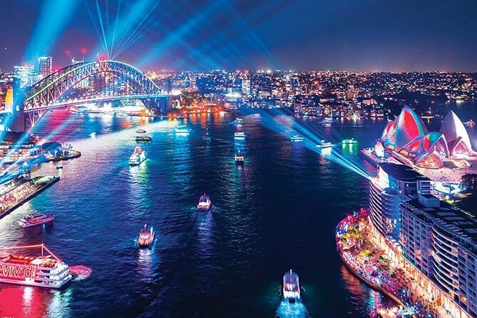 3-Hour Retro Party Vivid Cruise on Sydney Harbour