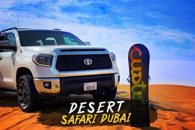 VIP Desert Safari Dubai with Buffet BBQ Dinner serve on table