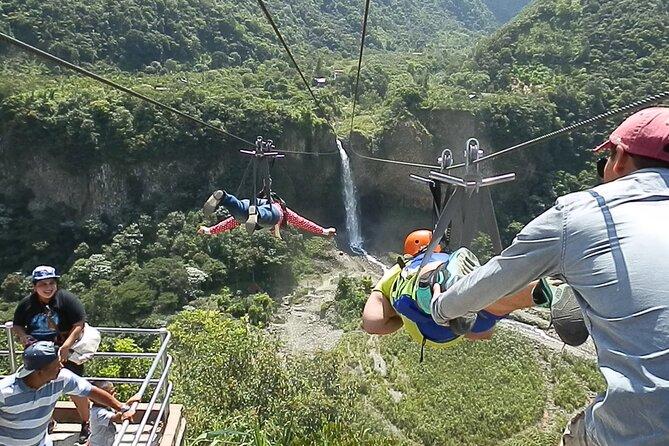 Canopy 1300m Round Trip Over Manto de la Novia Waterfall
