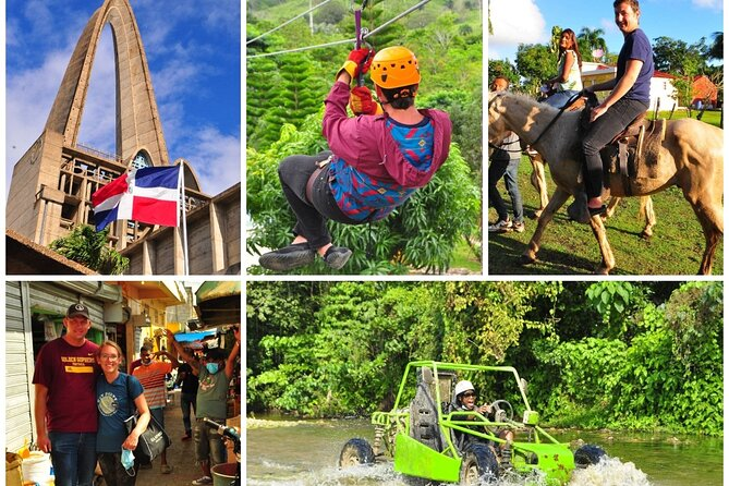 5 tours in 1 - Horseback Riding / City Tour / Countryside / Zipline / Dune Buggy