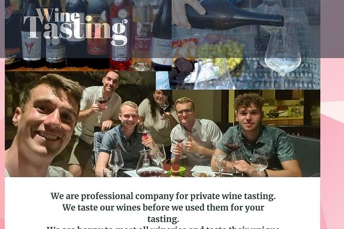wine tasting at your villas or hotel room private