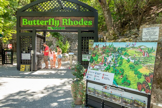 Roundrip to Butterfly Valley with pickup from Ixia, Rhodes Town, Faliraki