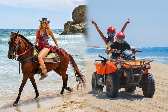 Los Cabos: ATV & HORSEBACK Ride. Beach and Desert