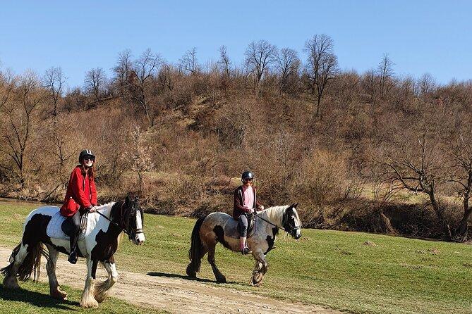 Horseback riding adventure tour through Brasov landscape