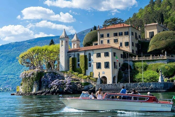 Villas and Flavors of Lake Como Walking and Boating Full-Day PRIVATE Tour