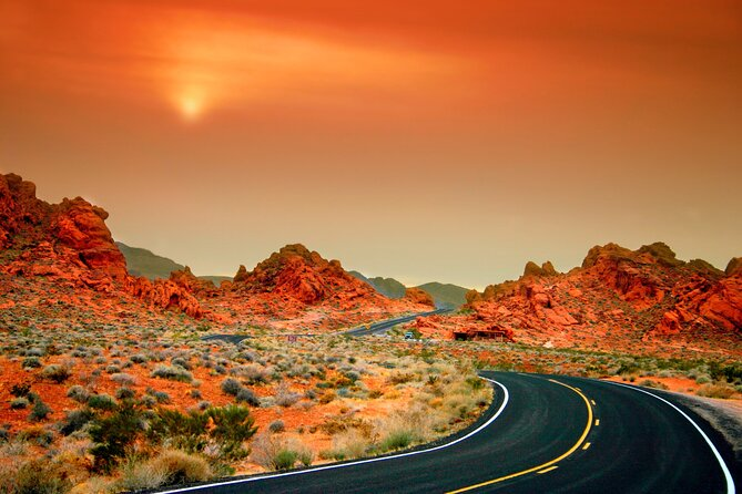 Valley of Fire and Red Rock Canyon from Las Vegas