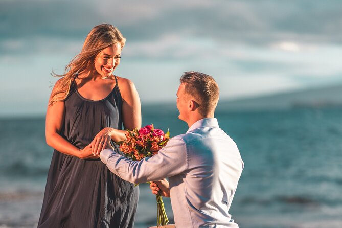 Private Engagement Photo Shoot at Ulua Beach