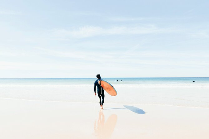 Surf lesson with Albufeira 's original surfing school - fun and easy classes