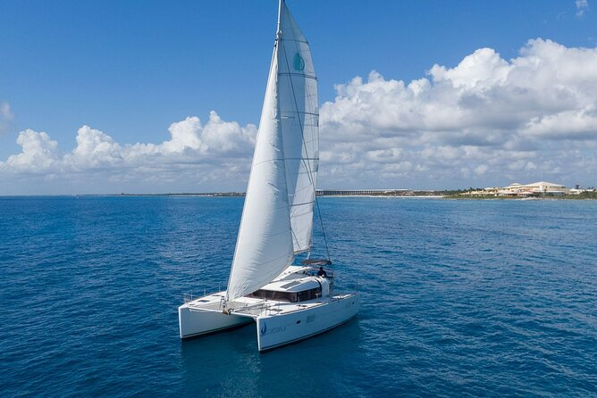 4-Hour Private 40' Luxury Catamaran Tour with Food, Open Bar & Snorkeling