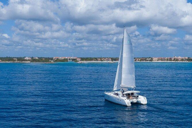8-Hour Private 40' Catamaran 2-Stop Tour:Palancar Beach w/Food, Drinks & Snorkel