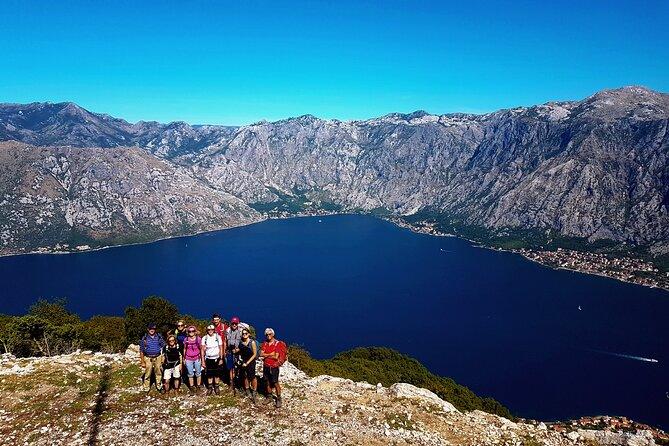 Hiking Vrmac peninsula with panoramic view on Kotor bay