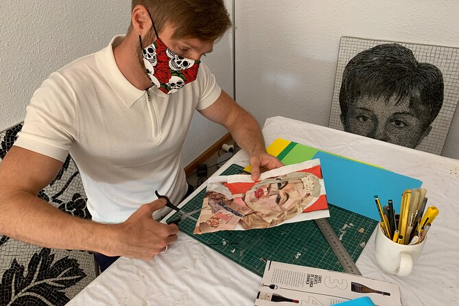 Small-Group Paper Collage Class in Barcelona