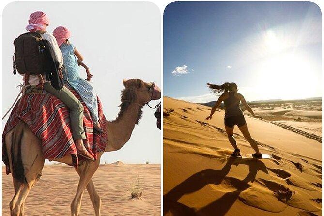 Desert Safari, Sand Boarding, Camel Ride, inland Sea Quick swim