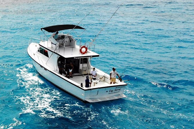 Private fishing charter Big Boat 48ft 14 pax Great Marlin, selfish, Mahi Mahi