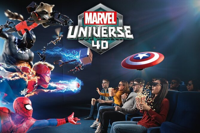 Madame Tussauds Admission Ticket with Marvel Universe 4D Movie Experience