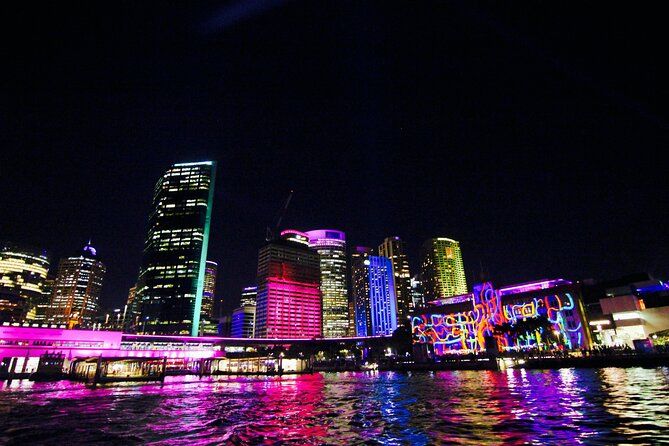 Private Sydney Harbour VIVID Cruise Including Sparking Wine
