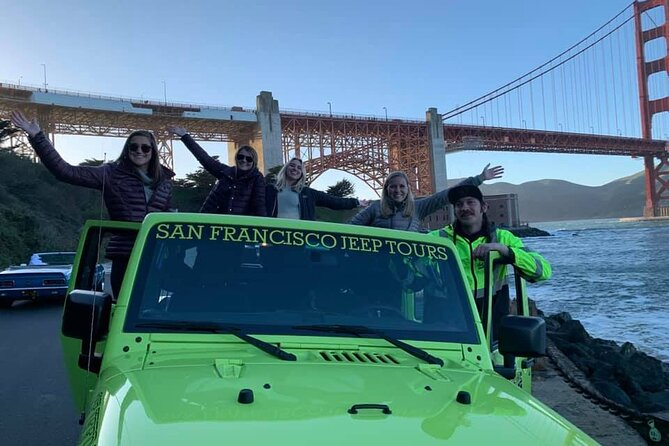 2 Hour Sunset or Evening Private Open Air Jeep Tour through San Francisco