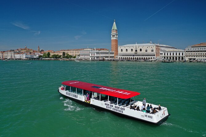 Venice in one day, Hop-on Hop-off with audio guides on a panoramic eco-boat