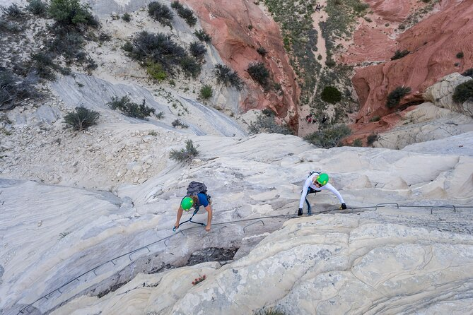 East Zion Intro to Rock Climbing (Via Ferrata) & Rappelling Experience