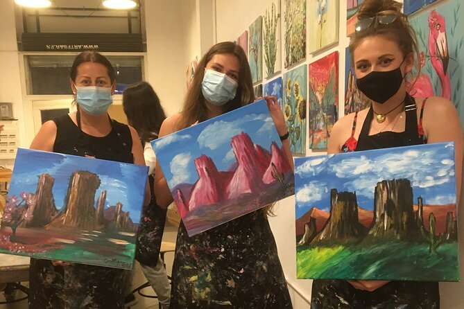 Painting and Wine Class in our hip and casual art studio