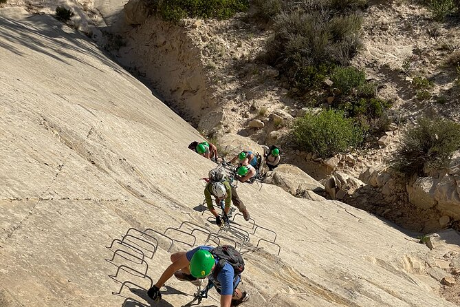 3-Hour Rock Climbing (Via Ferrata) Sunset and Night Rappel in East Zion