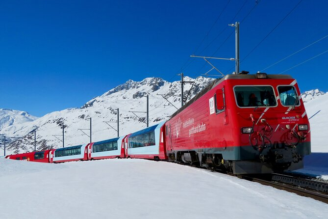 Glacier Express Panoramic Train Round Trip Private Tour from Interlaken