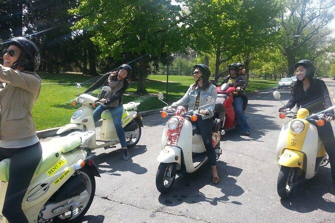 Tour scooter 125cc salou to hermitage&lake