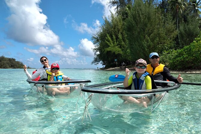 Eco guided excursion to the lagoon of Moorea in a transparent kayak Afternoon 2h