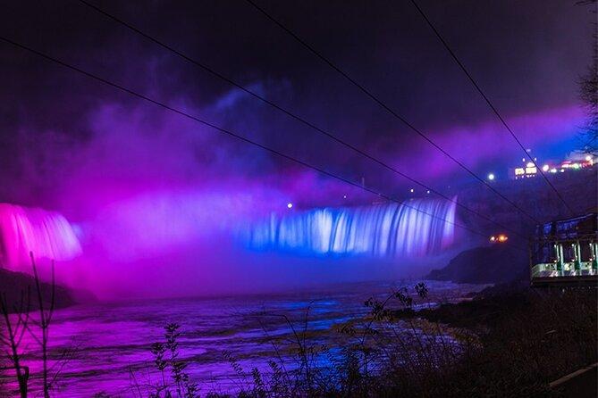 Niagara Falls Night Illumination Tour: American, Bridal and Horseshoe Falls