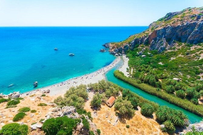 Preveli Palm Beach from Chania and Rethymno