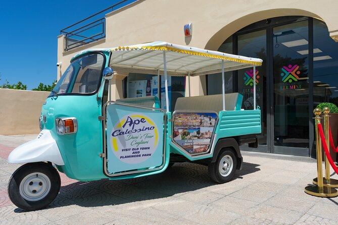 Tuk Tuk tour in Cagliari city, Poetto, Bonaria and Monte Urpinu hill