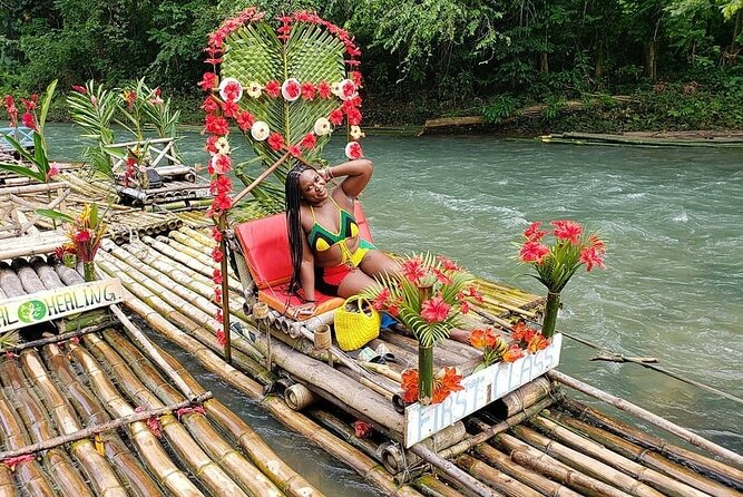Bamboo Rafting and Limestone Foot Massage on Lethe River Private Tour